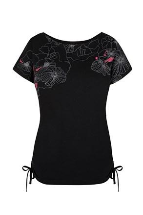 Damski czarny T-shirt LOAP Adelie