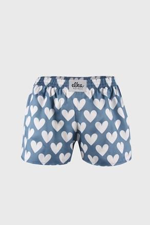 Дамски сини шорти ELKA LOUNGE на сърчица