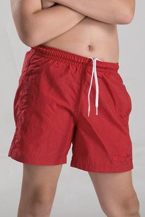 Chlapčenské kúpacie šortky červené
