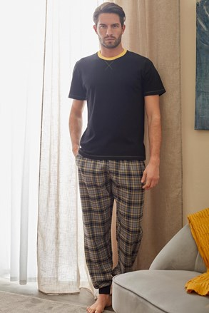 Pijama Cooper II, negru-galben