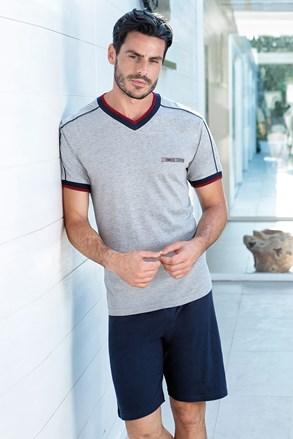 Gregor férfi pizsama, szürkés-kék