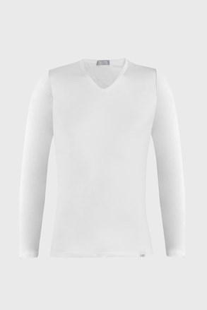 Biele tričko s dlhými rukávmi