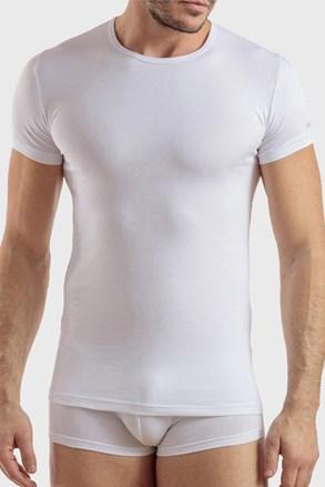 Tricou barbatesc PLUS SIZE, din bumbac, alb