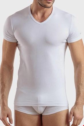 Tricou barbatesc Max PLUS SIZE, din bumbac, alb