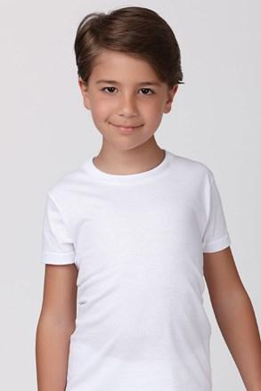 Chlapčenské bavlnené tričko biele