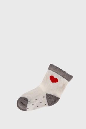 Detské ponožky Srdiečko