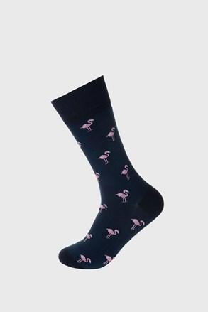 Sosete Flamingo, albastru inchis