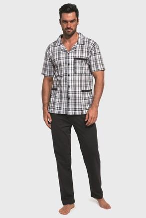 Meska férfi pizsama, kockás design