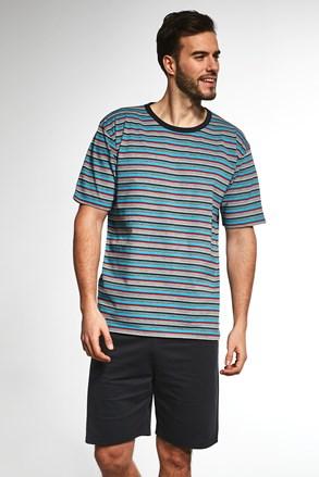 Meska férfi pizsama, csíkos mintás