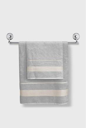 Jasnoszary bambusowy ręcznik Moreno