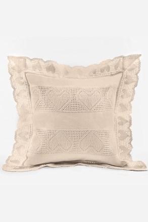 Powłoczka na poduszkę koronka kremowa