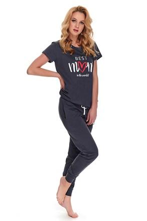 Pijama Best mom, sarcina si alaptare, gri