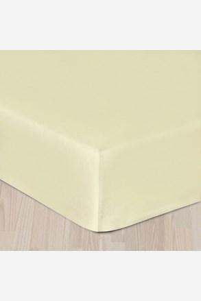 Sima pamut szatén lepedő, krém színű