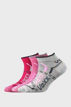 3 PACK dievčenských nízkych ponožiek VOXX