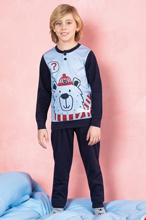 Pijama pentru baieti Bear, albastru