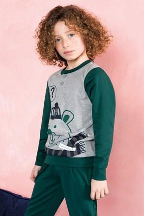 Chłopięca piżama Bear zielona