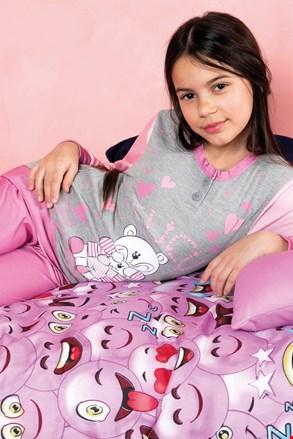 Pijama Biongiorno roz, pentru fetite