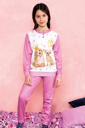 Pijama fetite Hallo, roz