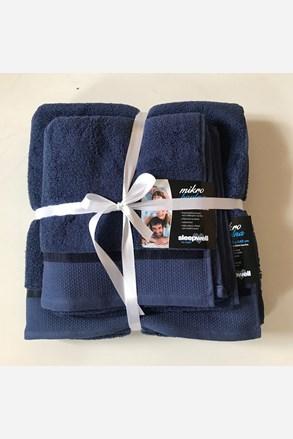 Darčeková súprava uterákov mikrobavlna námornícka modrá