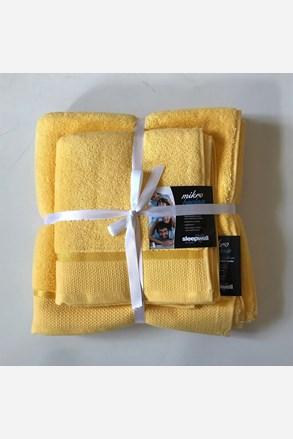 Set cadou prosoape din micro-bumbac, galben