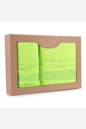 Prezentowy komplet ręczników Moreno limonkowy
