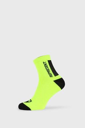 Жълти чорапи Represent Simply Logo