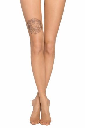 Дамски чорапогащник с имитация на татуировка на глезена  20 DEN