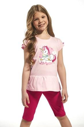 Памучна пижама за момичета Unique