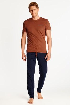 Kék-narancs színű férfi pizsama Zing