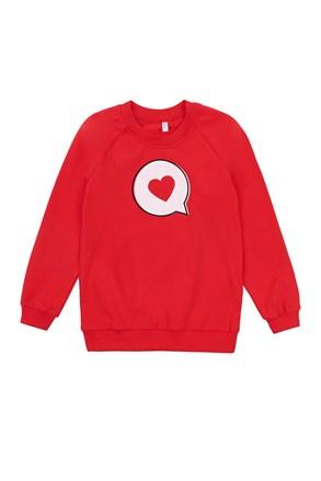 Dziewczęca cienka bluza Love