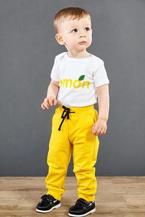 Дитячі теплі штани жовті