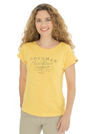 Жіноча жовта футболка Bushman Kira