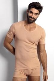 Телесна фланела за под ризата с парчета, поглъщащи потта