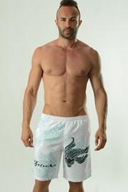 Мъжки бански шорти Cyprinus бели