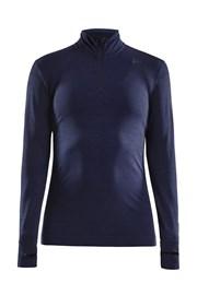 Craft Fuseknit Comfort Zip női póló, sötétkék