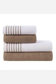 Súprava uterákov a osušiek Eleganza hnedá