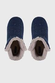 Tmavomodré domáce papuče