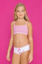 Dievčenský komplet nohavičiek a topu Fairy Pink