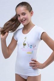 Фланела за момичета Amazing бяла