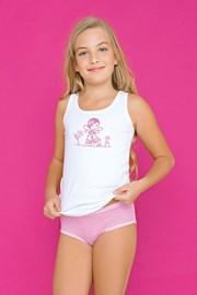 Σετ φανελάκι και σλιπάκι για κορίτσια Fairy ροζ