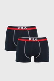 2-pack boxeri albastru inchis FILA , banda elastica rosu-albastru