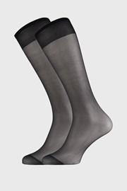 2 PACK дамски силонови три четвърти чорапи 17 DEN