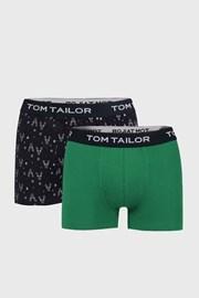 2 PACK modro-zelených boxeriek Tom Tailor