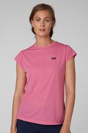 Damski różowy T-shirt sportowy Helly Hansen