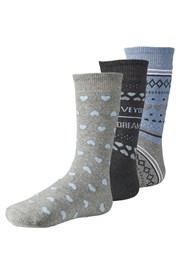 3 pack hrejivých dámskych ponožiek Live