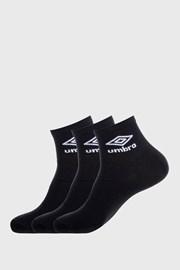 3 PACK черни чорапи до глезена Umbro