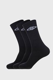 3 PACK черни чорапи Umbro Tennis