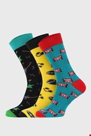 3 PACK по-дълги чорапи Bellinda Crazy Hobby