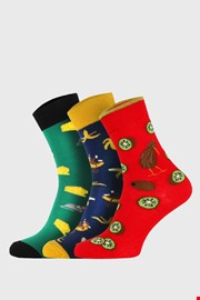 3 PACK по-дълги чорапи Bellinda Crazy Fruits