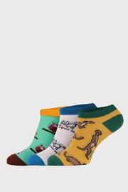 Bellinda Crazy Animals alacsony zokni, 3 pár 1 csomagban